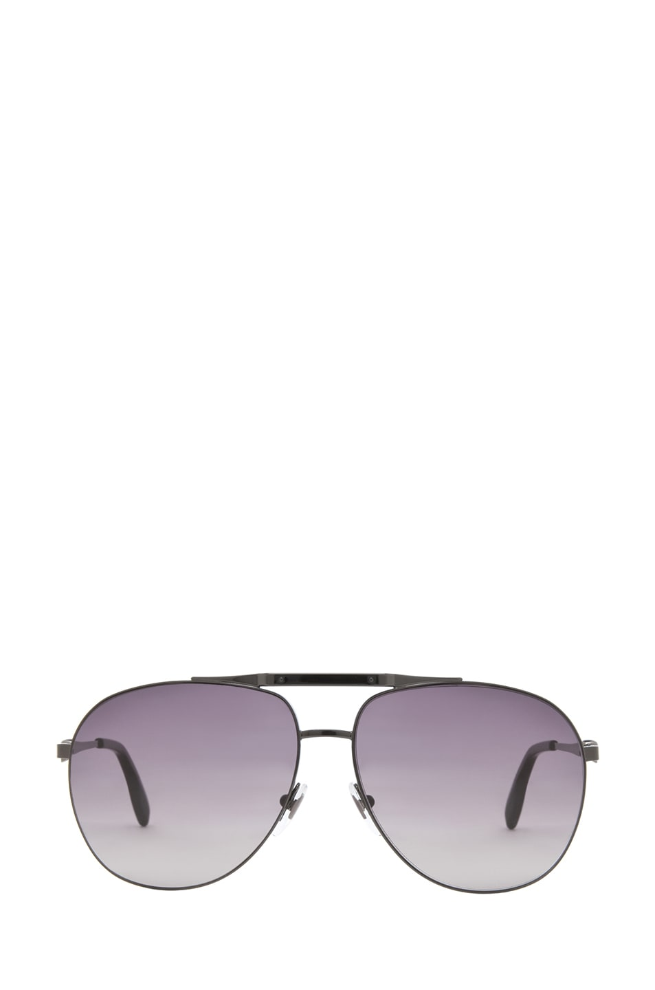 Image 1 of Alexander McQueen 4210 Sunglasses in Dark Ruthenium & Brown Gradient
