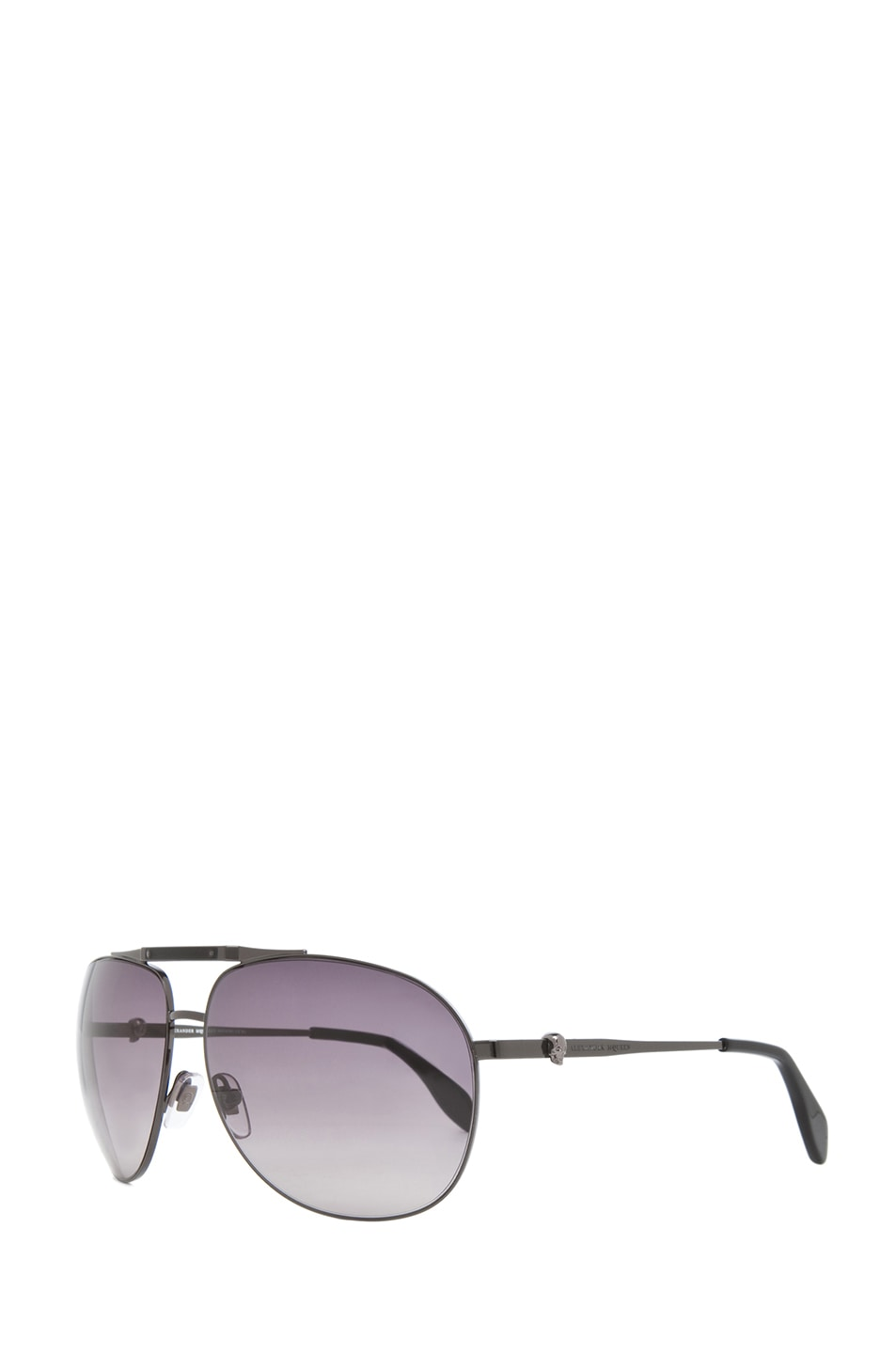 Image 2 of Alexander McQueen 4210 Sunglasses in Dark Ruthenium & Brown Gradient