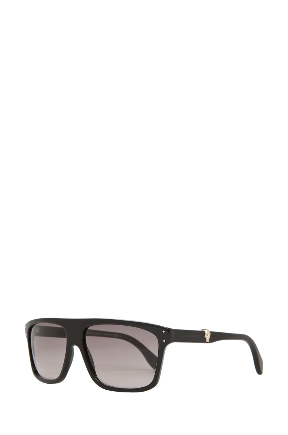 Image 2 of Alexander McQueen 4209 Sunglasses in Black & Gray Gradient
