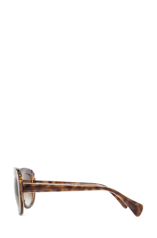 Image 3 of Alexander McQueen 4214 Sunglasses in Champagne Havana & Brown Gradient