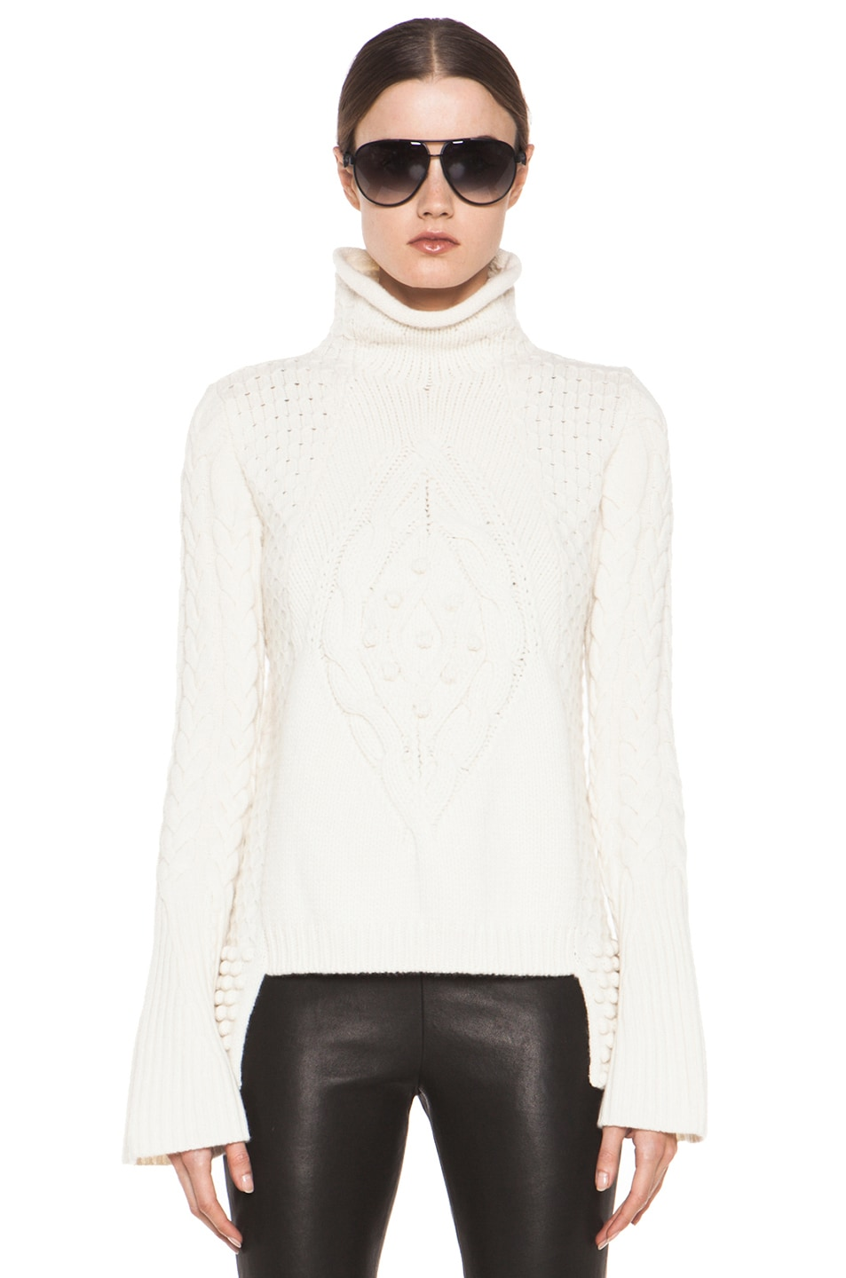 Image 1 of Alexander McQueen Aran Sweater in Cream