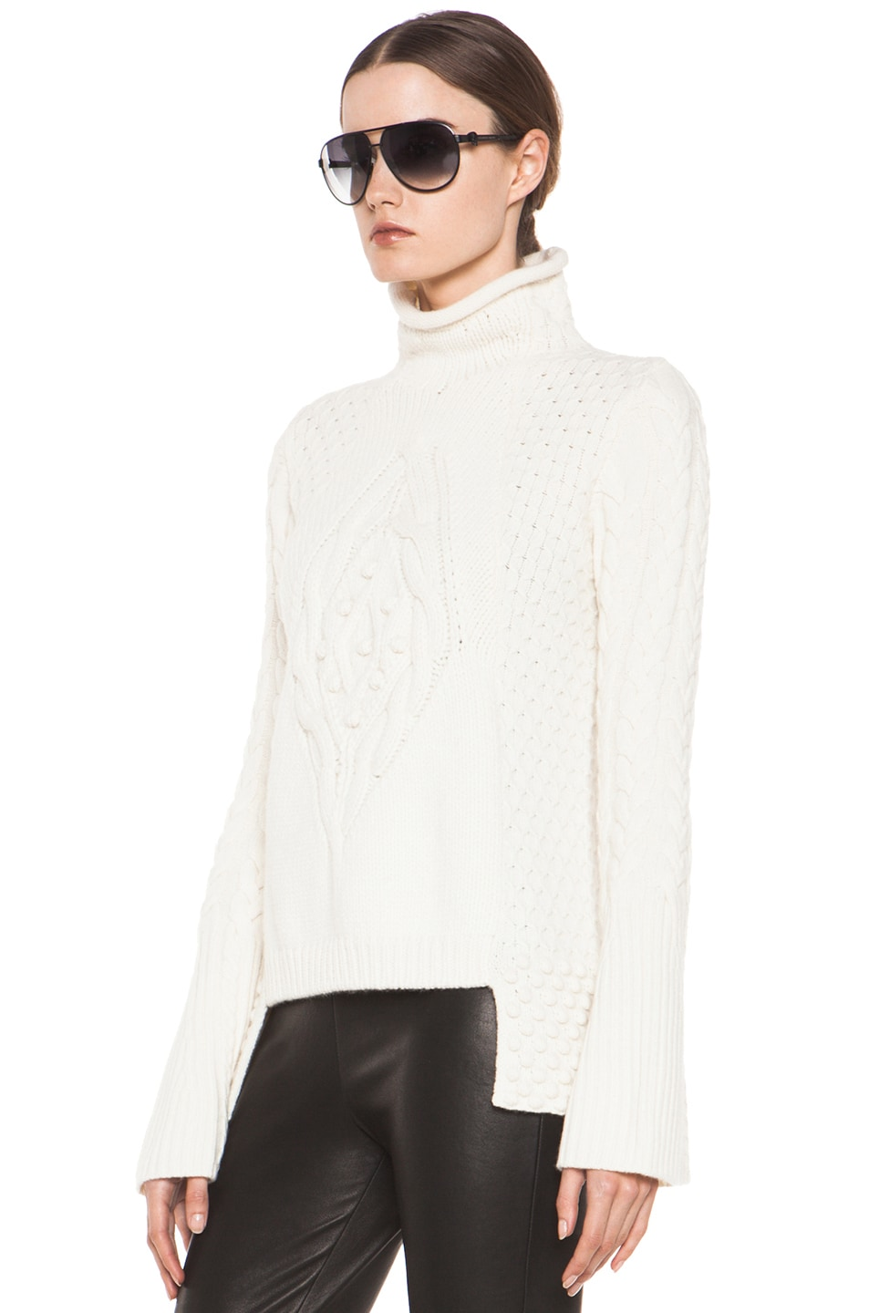Image 2 of Alexander McQueen Aran Sweater in Cream