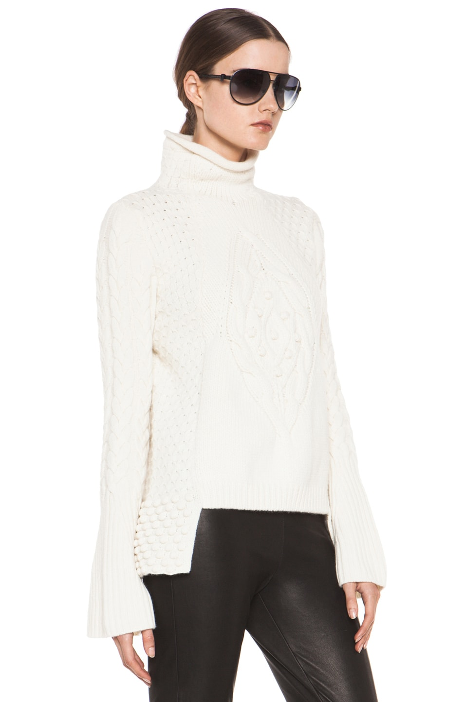 Image 3 of Alexander McQueen Aran Sweater in Cream