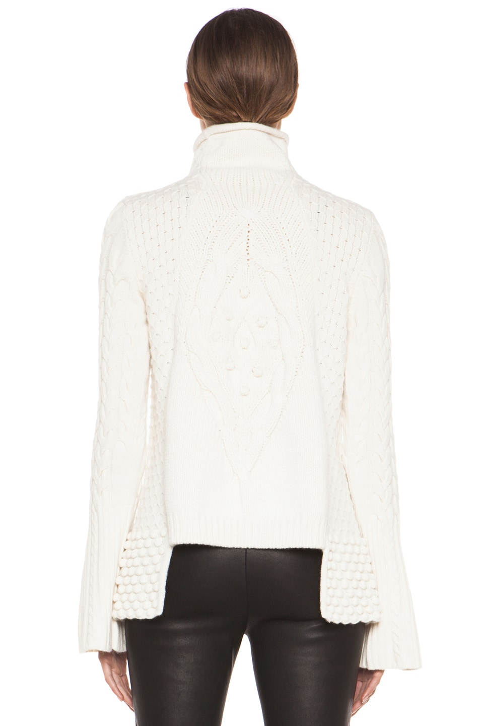 Image 4 of Alexander McQueen Aran Sweater in Cream