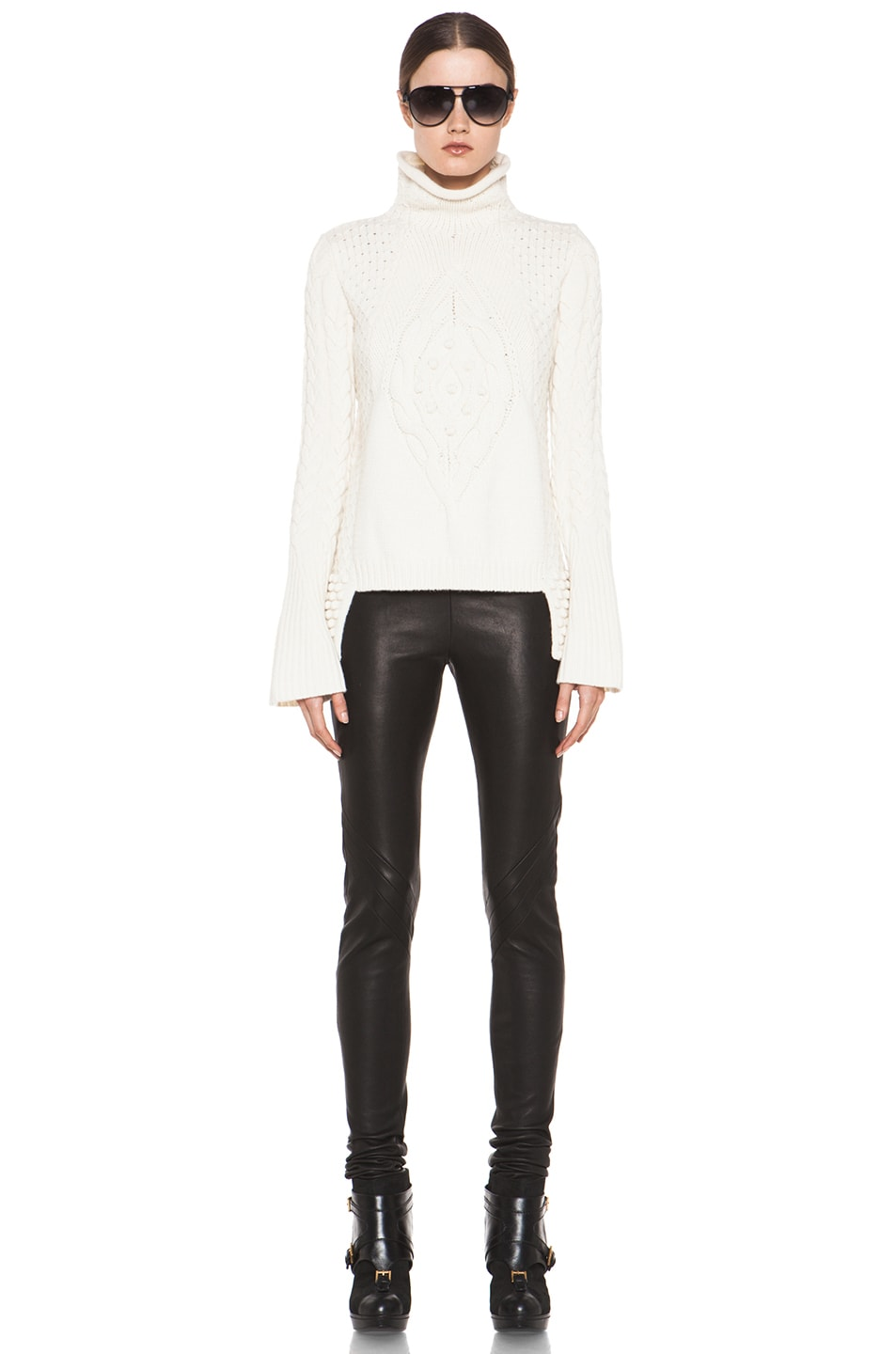 Image 5 of Alexander McQueen Aran Sweater in Cream