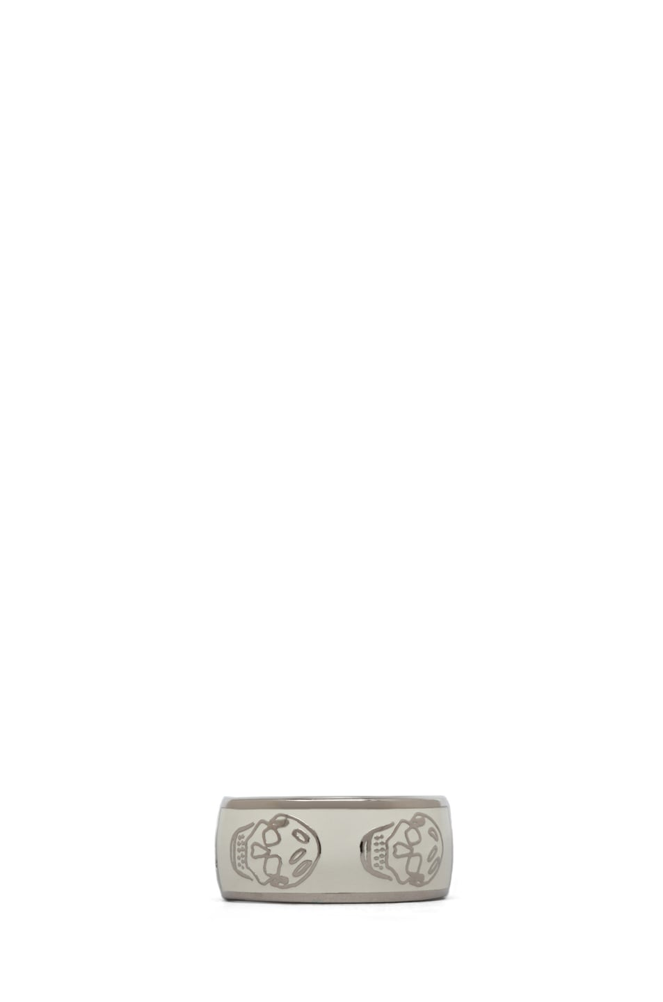 Image 1 of Alexander McQueen Enamel Ring in White