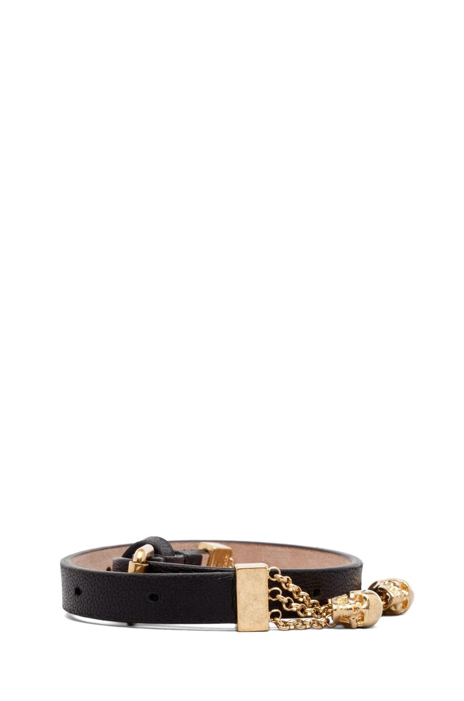 Image 2 of Alexander McQueen Double Wrap Bracelet in Black