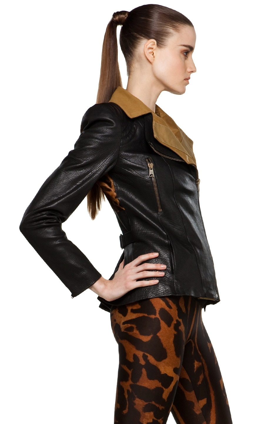 Image 3 of Alexander McQueen Leather Jacket in Multi