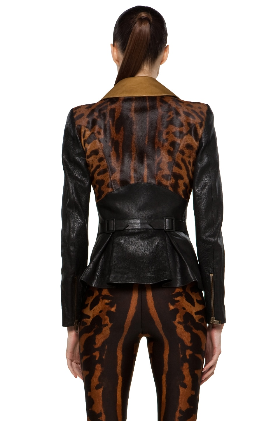 Image 4 of Alexander McQueen Leather Jacket in Multi