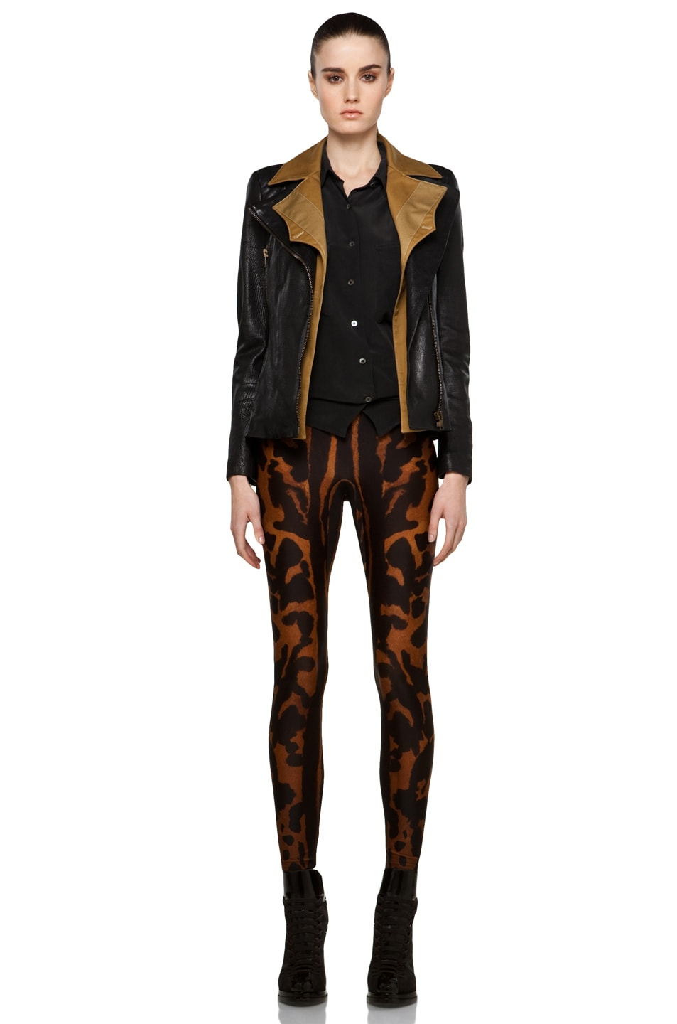Image 5 of Alexander McQueen Leather Jacket in Multi