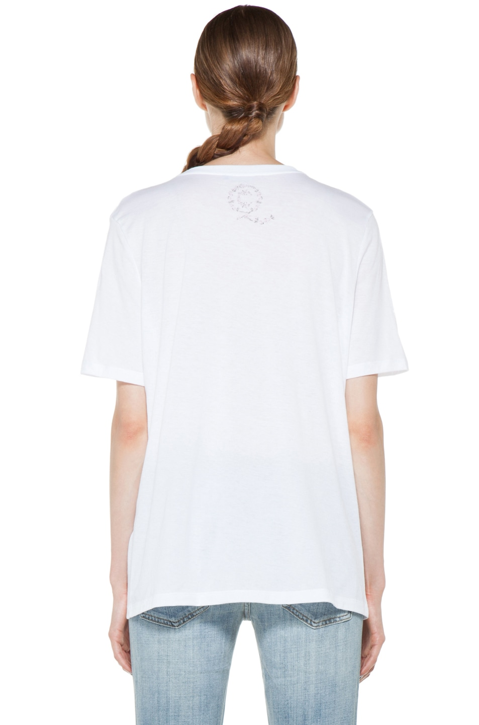 Image 5 of Alexander McQueen Roses Tee in White