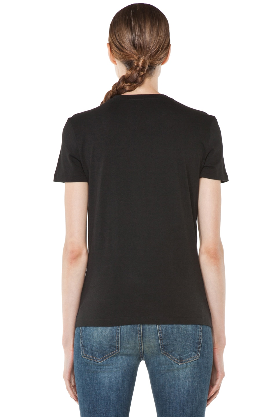 Image 4 of Alexander McQueen Beaded Skull Tee in Black