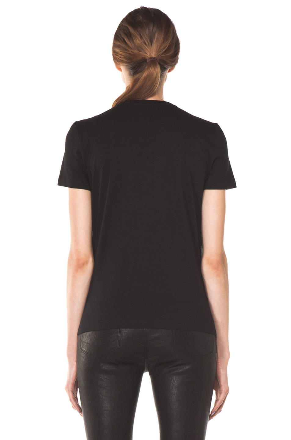 Image 4 of Alexander McQueen Embroidered Tee in Black