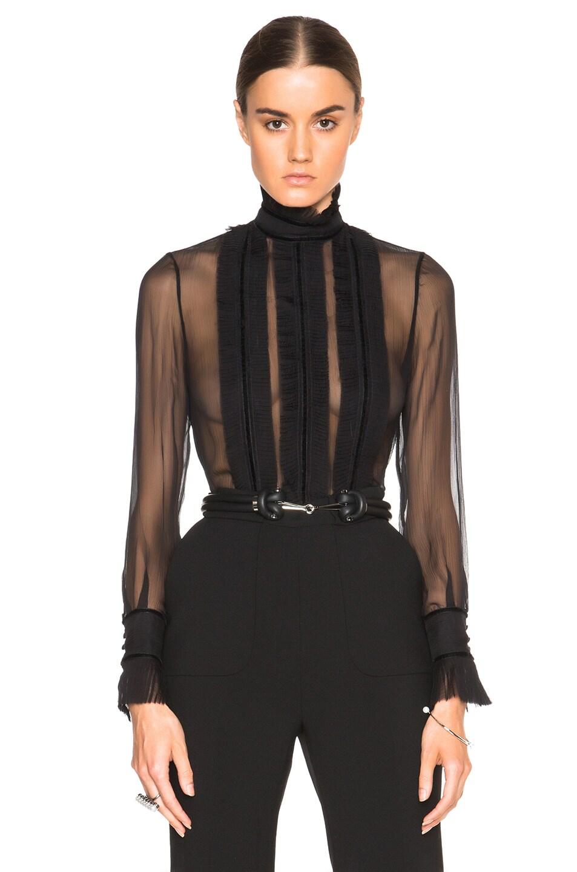 alexander mcqueen blouse sale hot black blouse. Black Bedroom Furniture Sets. Home Design Ideas