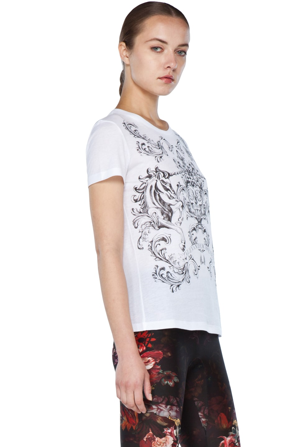 Image 3 of Alexander McQueen Unicorn Skull Tee in White