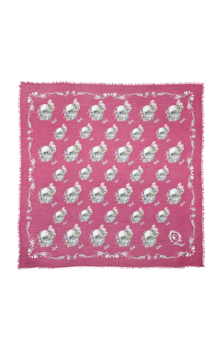 Image 1 of Alexander McQueen Pashmina Flower Breeze Scarf in Lacquer