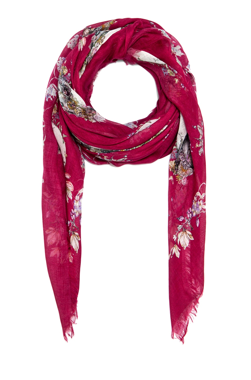 Image 2 of Alexander McQueen Pashmina Flower Breeze Scarf in Lacquer