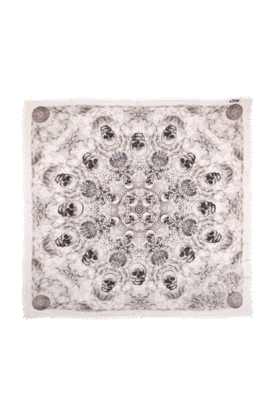 Image 1 of Alexander McQueen Silk Dandelions Circle Scarf in Pink
