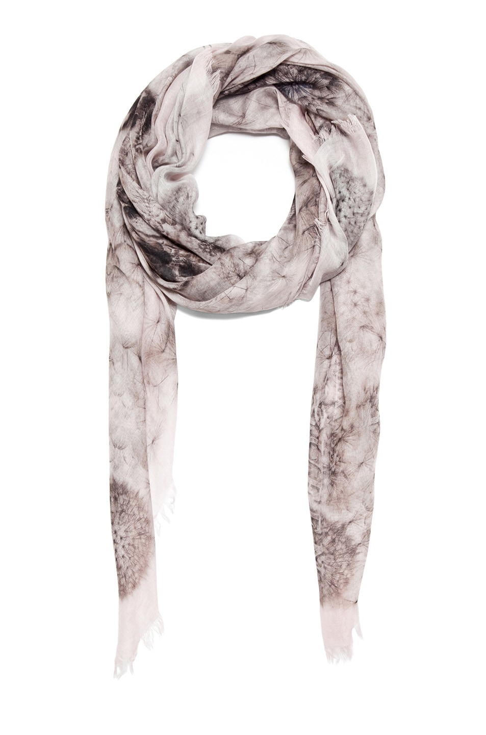 Image 2 of Alexander McQueen Silk Dandelions Circle Scarf in Pink