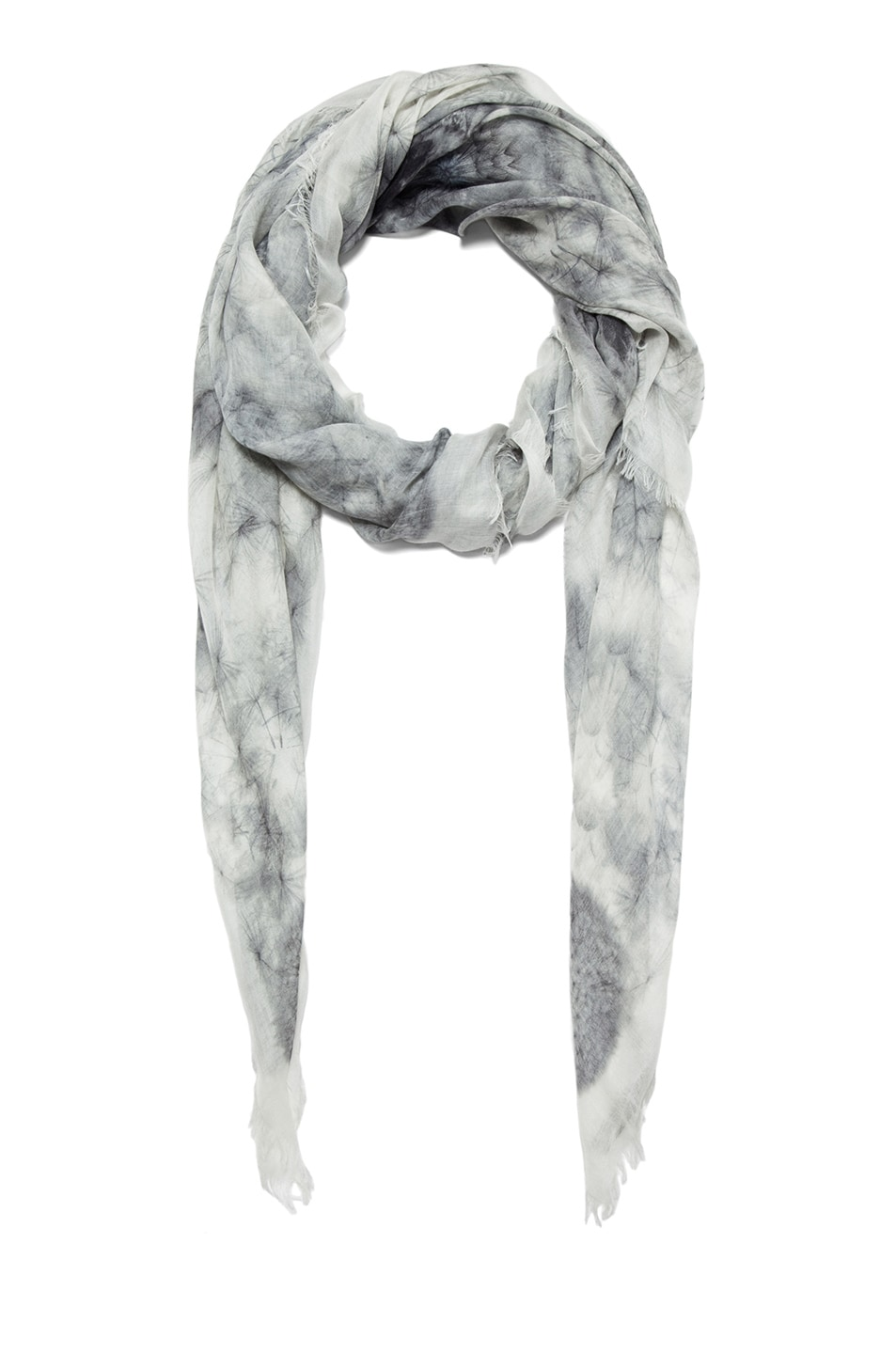 Image 2 of Alexander McQueen Silk Dandelions Circle Scarf in Off White