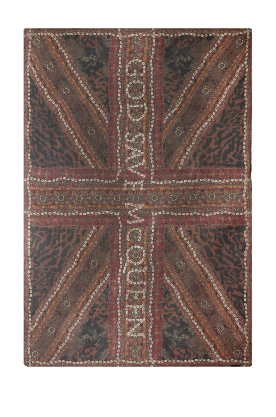 Image 1 of Alexander McQueen Patchwork Scarf in Brown/Black