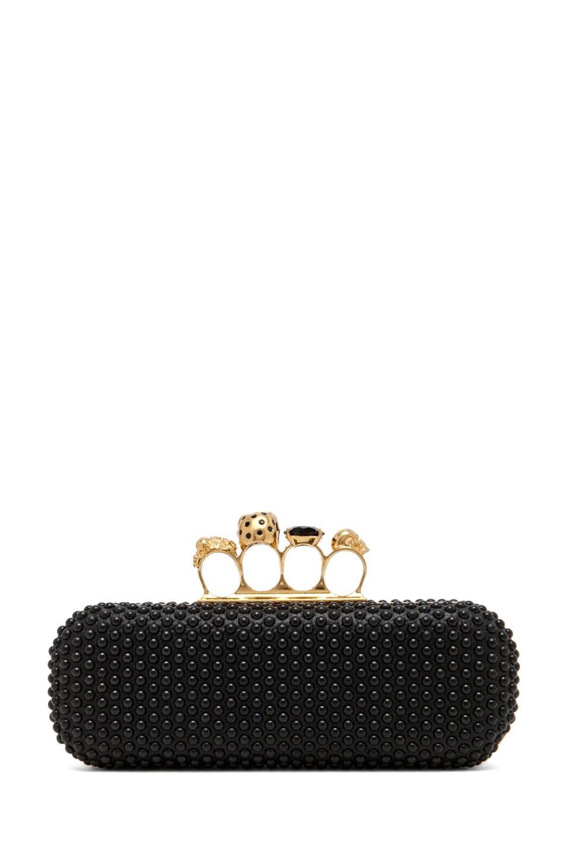 Image 2 of Alexander McQueen Knuckle Box Clutch in Black