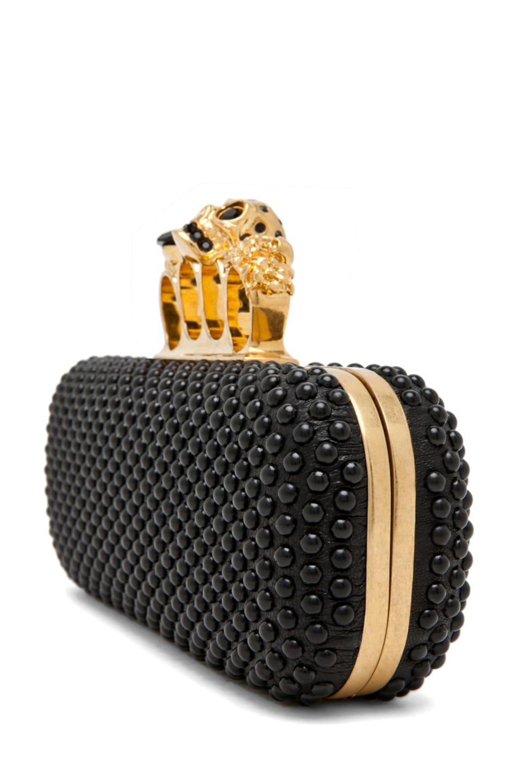 Image 3 of Alexander McQueen Knuckle Box Clutch in Black