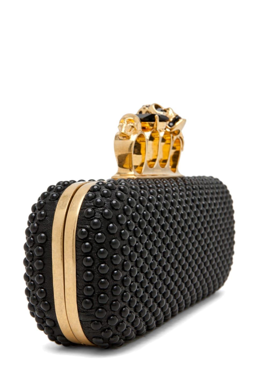 Image 4 of Alexander McQueen Knuckle Box Clutch in Black