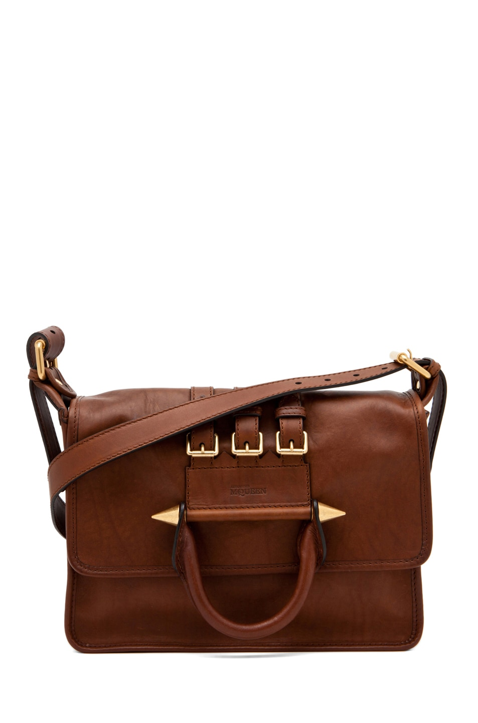 Image 1 of Alexander McQueen Crossbody Satchel in Cigar