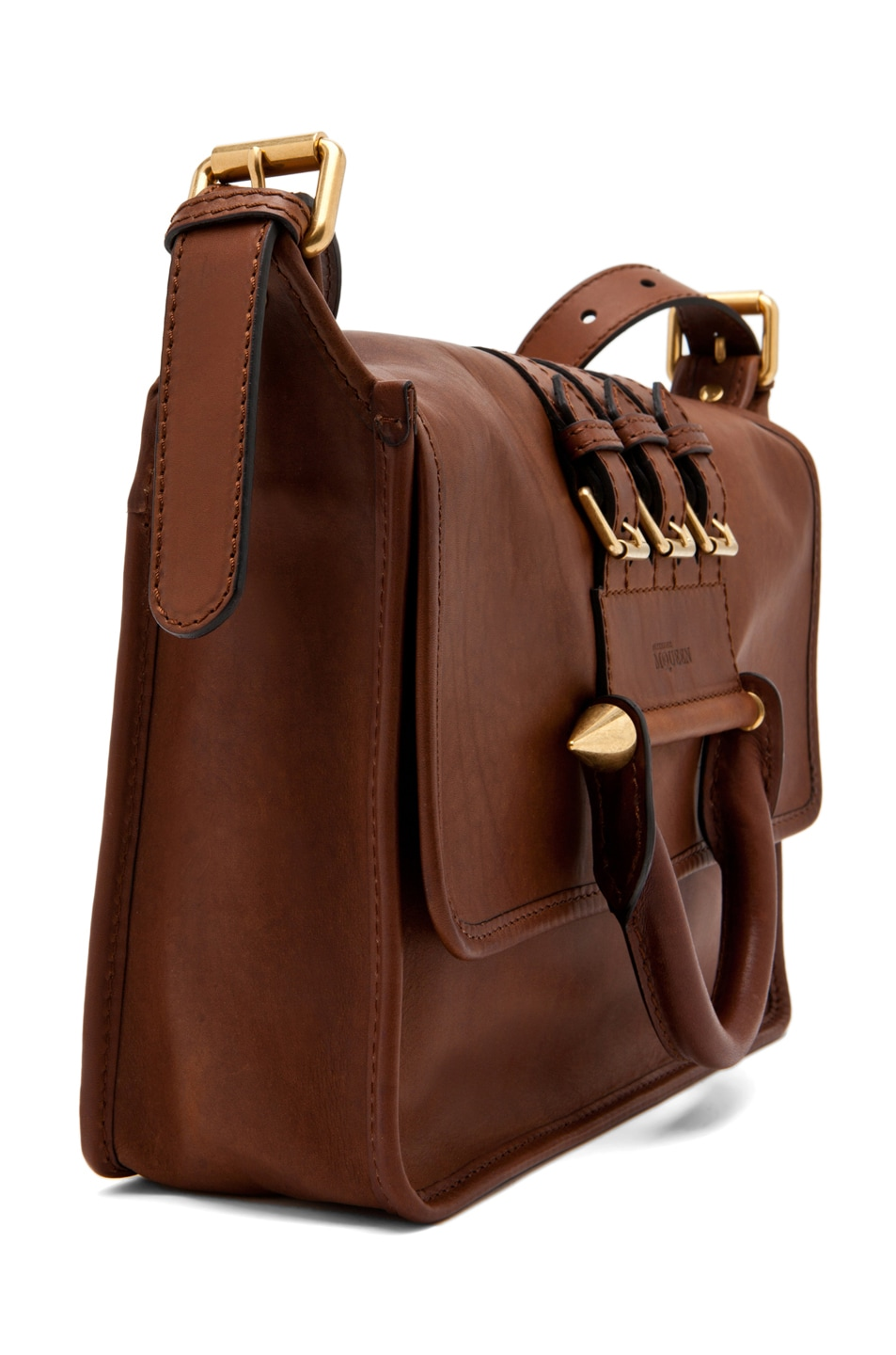 Image 3 of Alexander McQueen Crossbody Satchel in Cigar