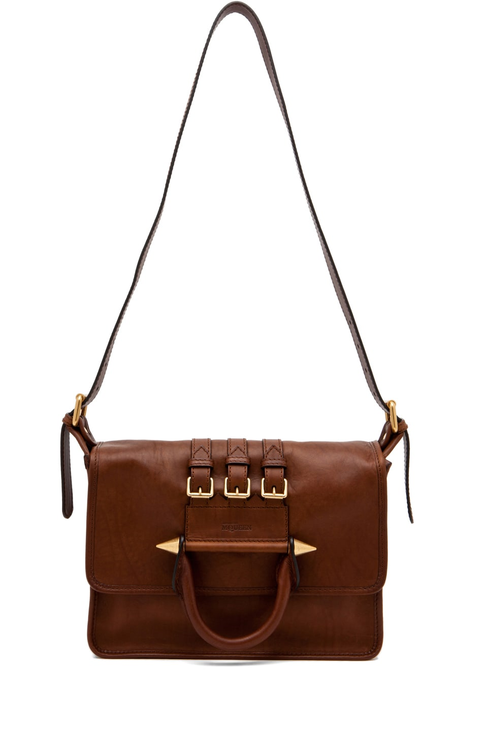 Image 5 of Alexander McQueen Crossbody Satchel in Cigar