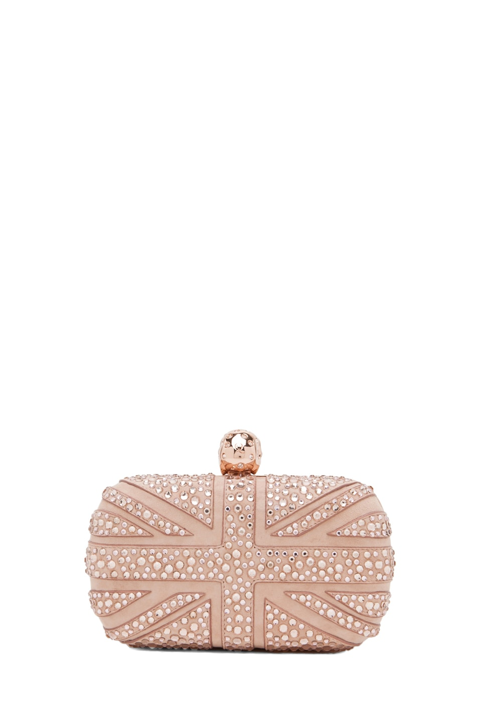 Image 2 of Alexander McQueen Skull Clutch in Pale Pink