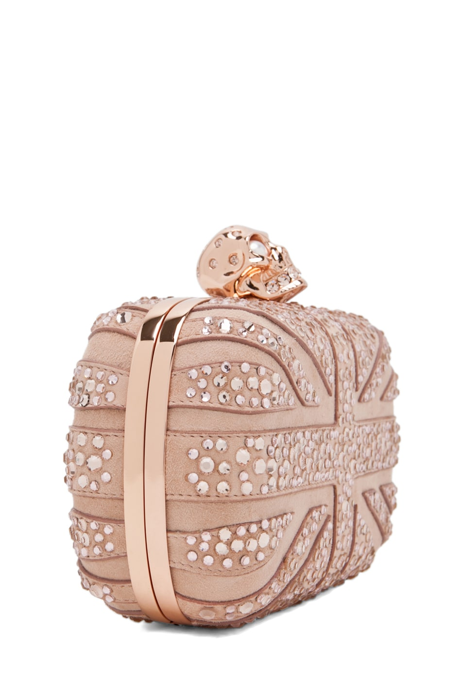 Image 3 of Alexander McQueen Skull Clutch in Pale Pink
