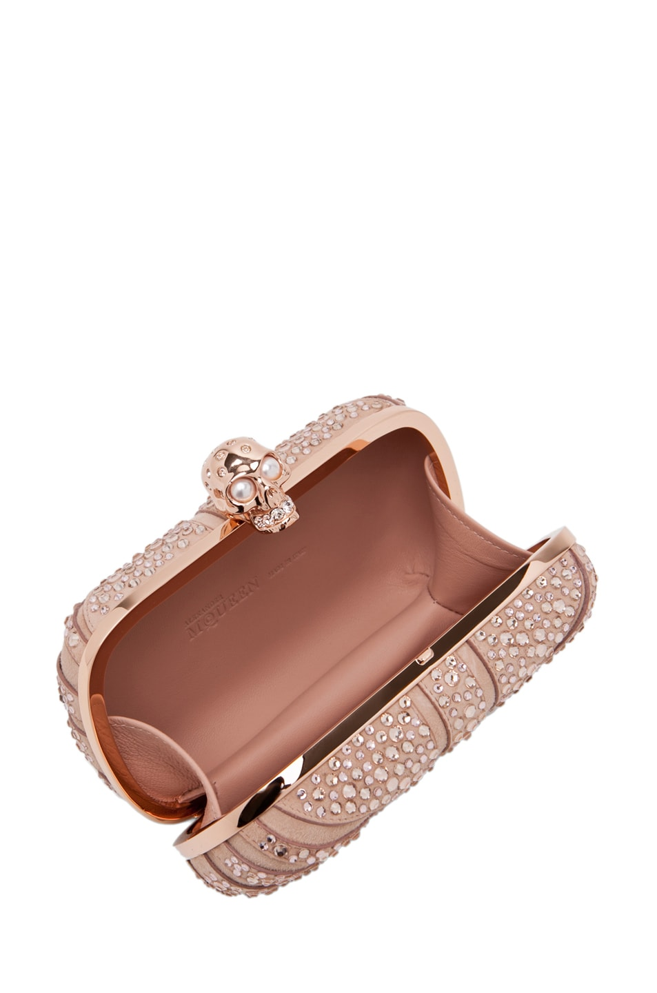Image 4 of Alexander McQueen Skull Clutch in Pale Pink