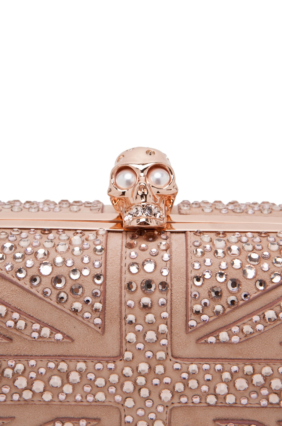 Image 5 of Alexander McQueen Skull Clutch in Pale Pink