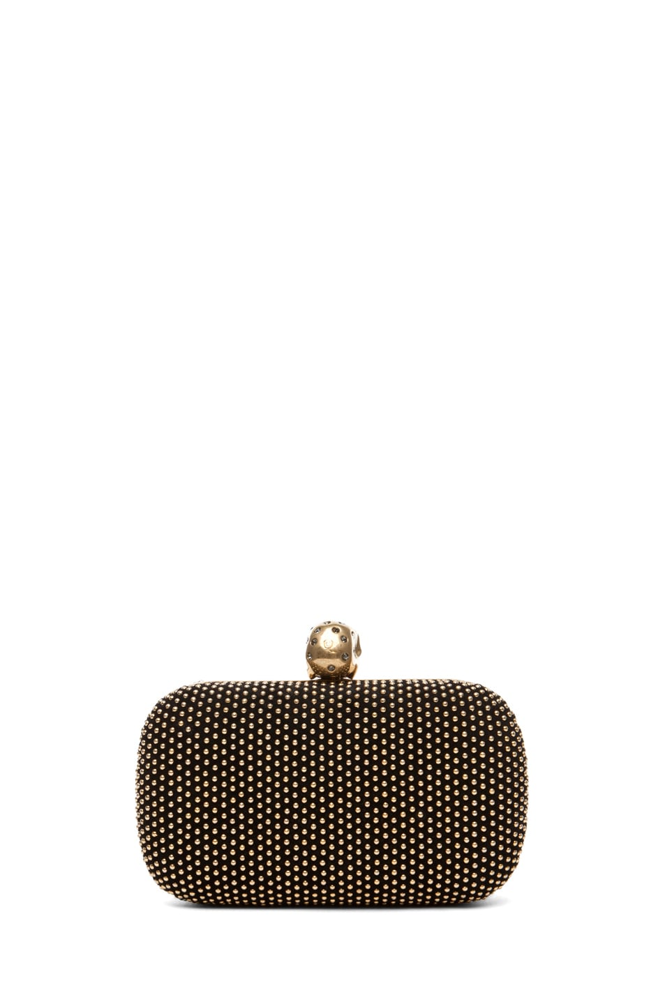 Image 2 of Alexander McQueen Classic Skull Box Clutch with Strap in Black