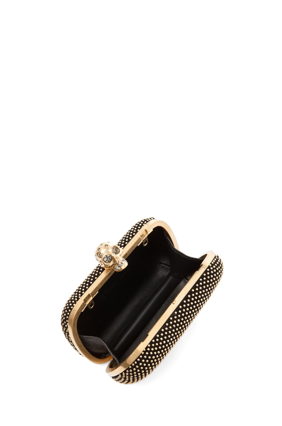 Image 4 of Alexander McQueen Classic Skull Box Clutch with Strap in Black