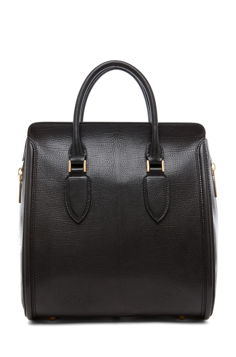 Image 2 of Alexander McQueen Calf Tote in Black