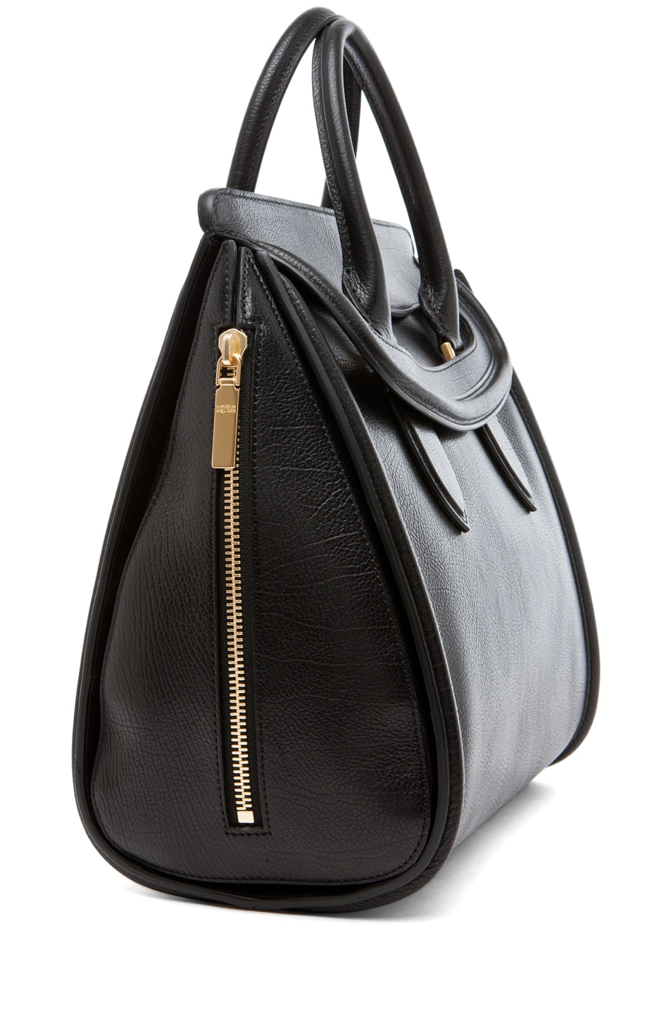 Image 3 of Alexander McQueen Calf Tote in Black