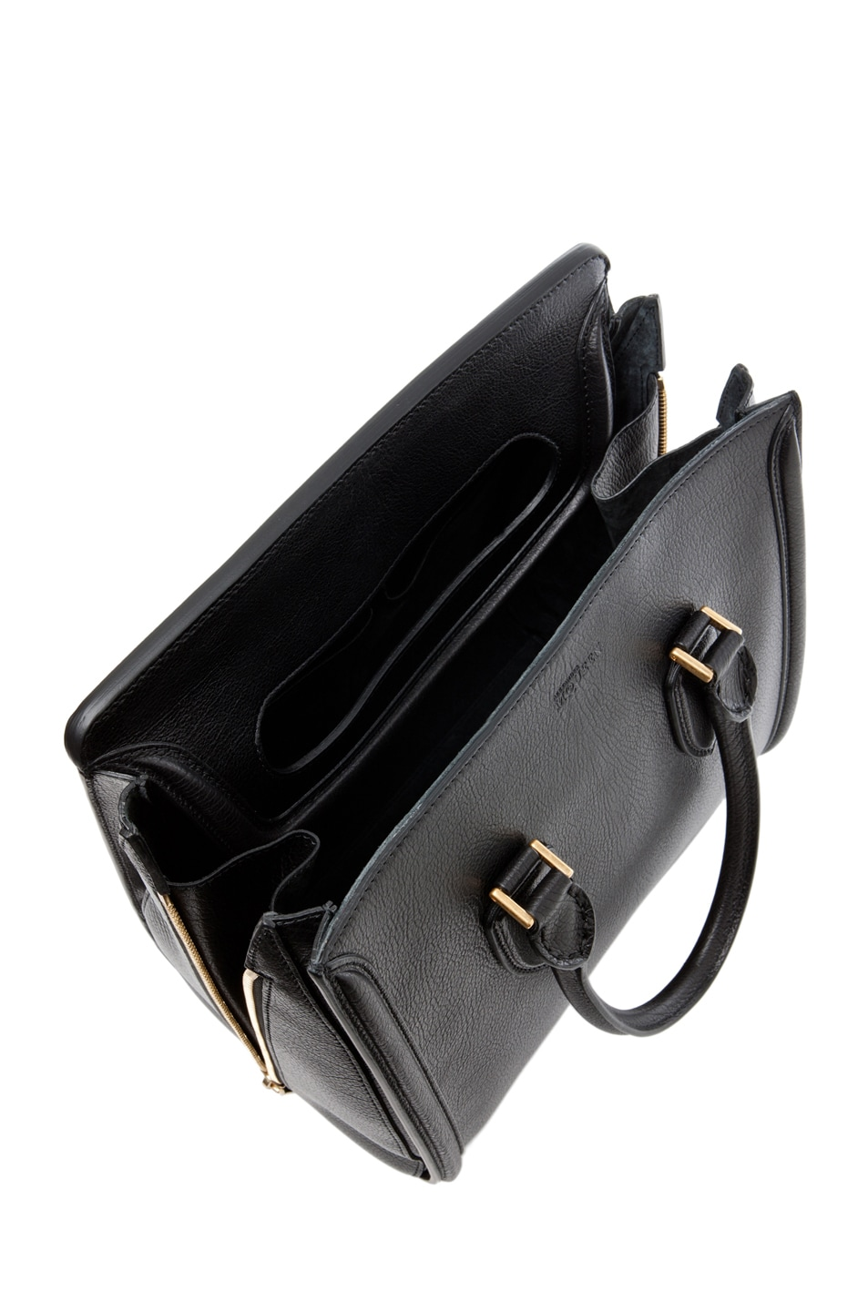 Image 4 of Alexander McQueen Calf Tote in Black