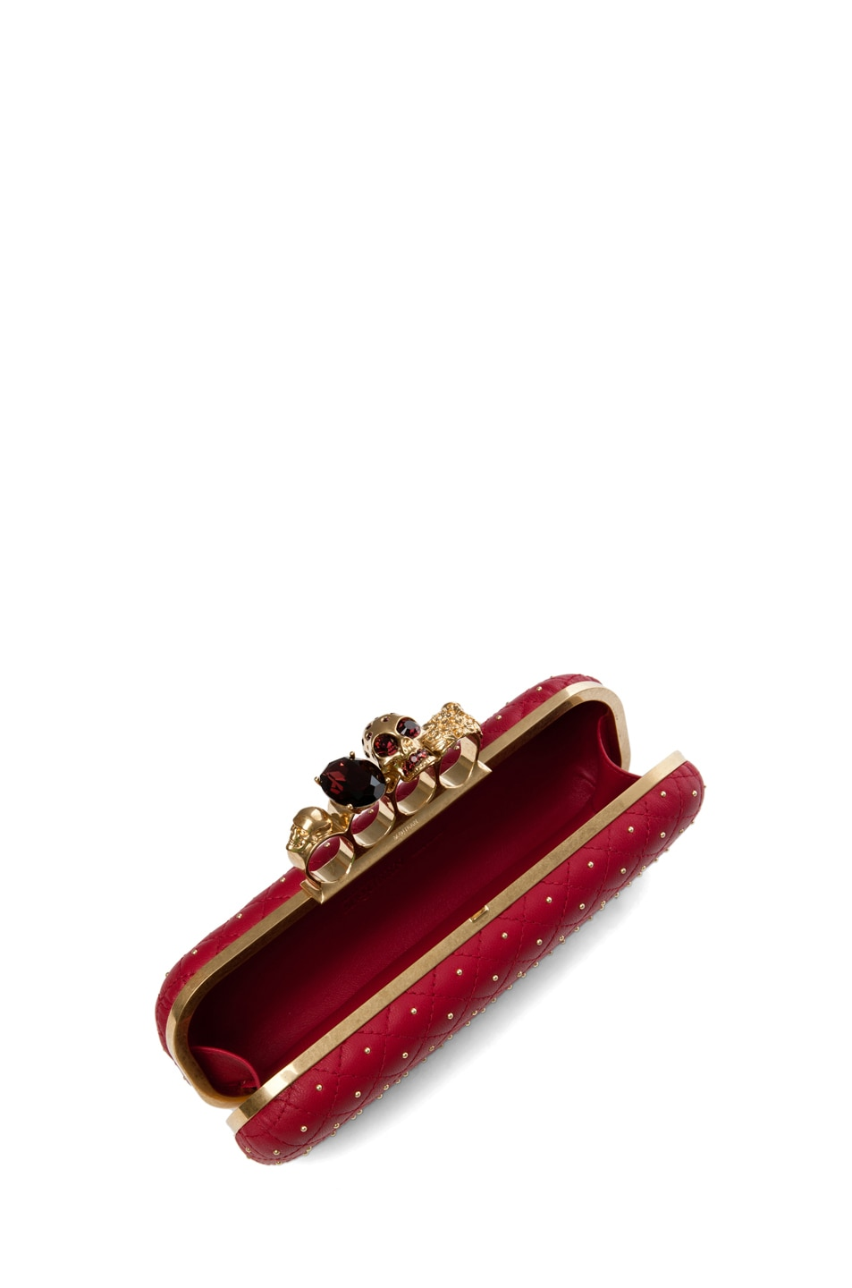 Image 6 of Alexander McQueen Knuckle Box Long Clutch in Cherry