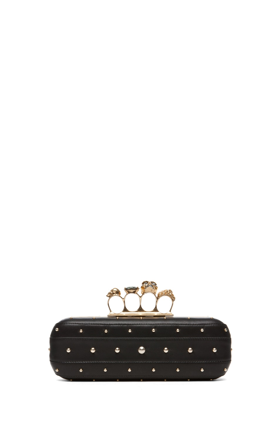 Image 1 of Alexander McQueen Knuckle Box Long Clutch in Black
