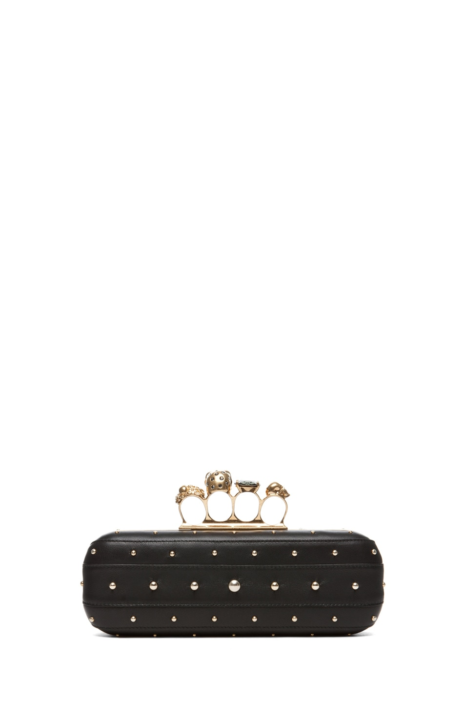 Image 2 of Alexander McQueen Knuckle Box Long Clutch in Black