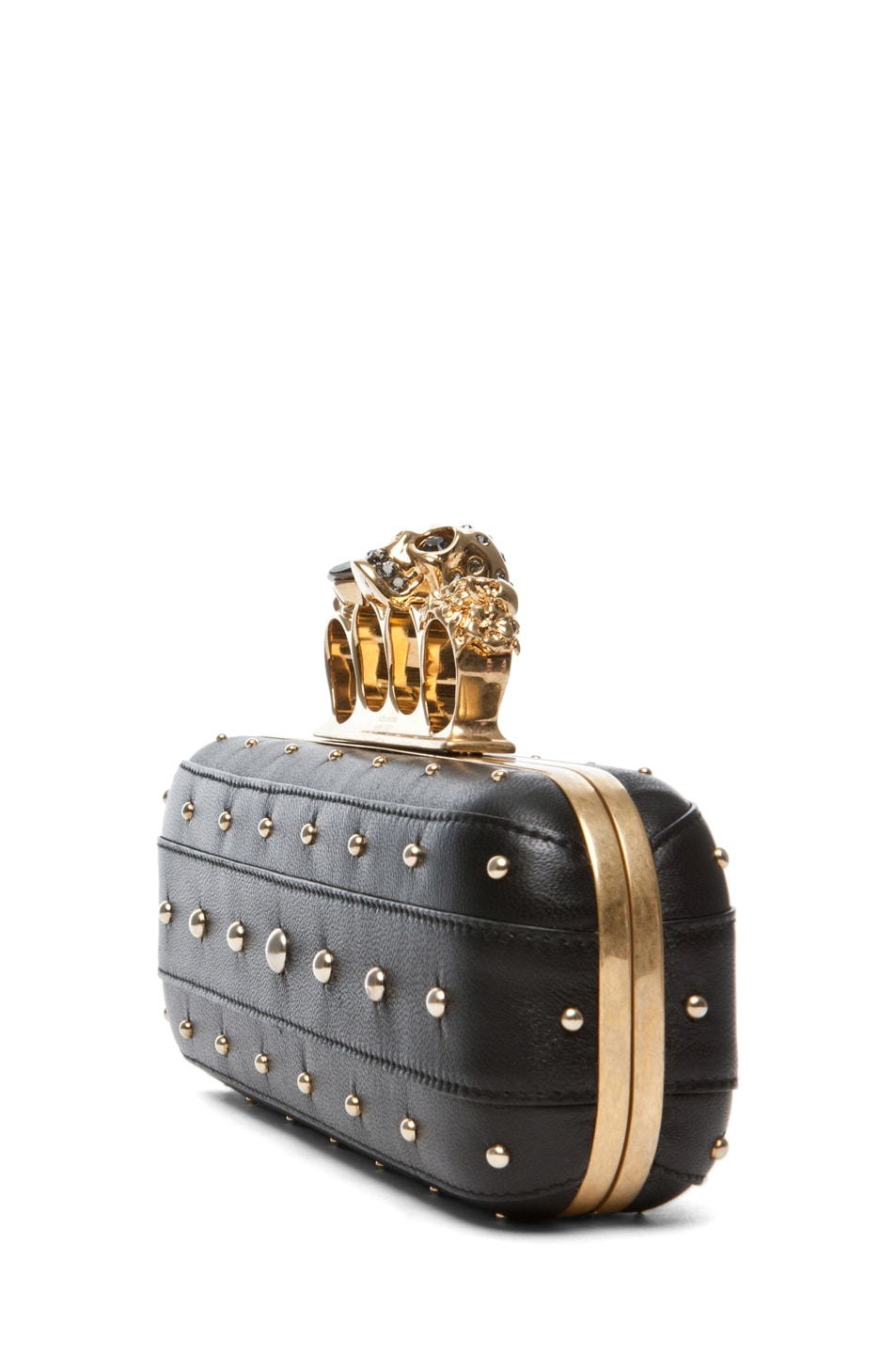 Image 3 of Alexander McQueen Knuckle Box Long Clutch in Black