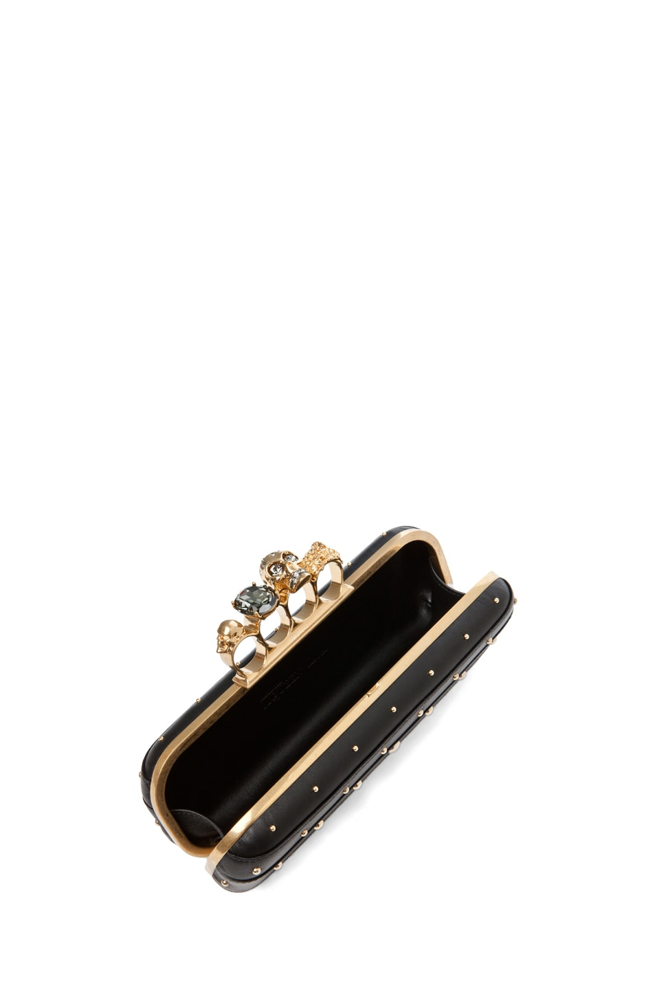 Image 6 of Alexander McQueen Knuckle Box Long Clutch in Black
