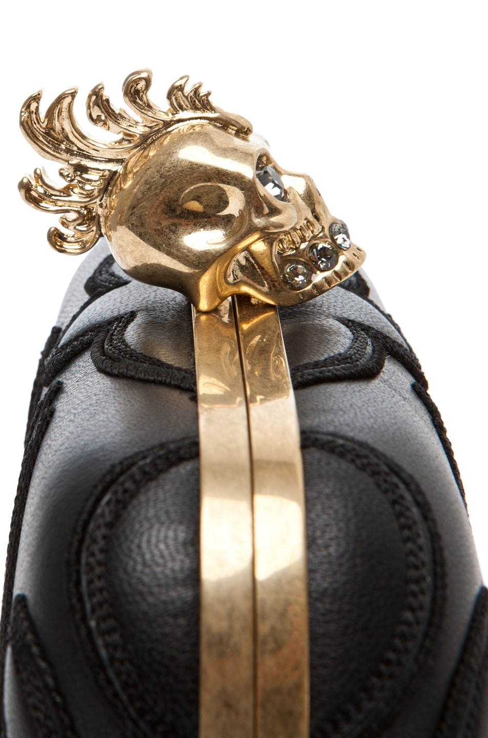 Image 6 of Alexander McQueen Punk Baroc Skull Box Clutch in Black