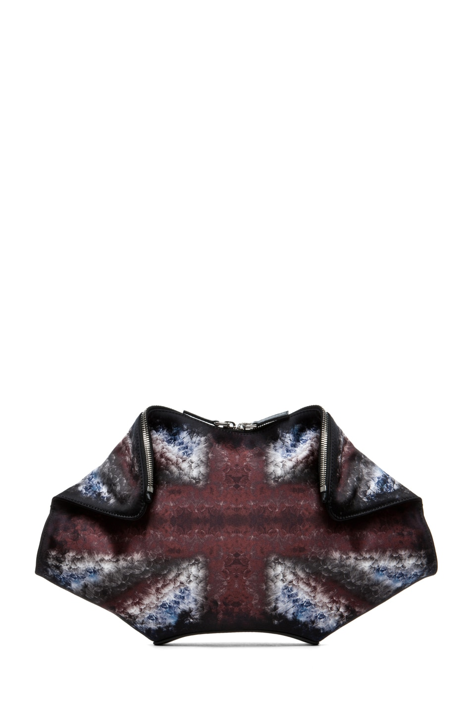 Image 1 of Alexander McQueen De Manta Clutch in Multi