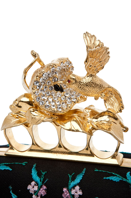 Image 4 of Alexander McQueen Hummingbird Clutch in Multi
