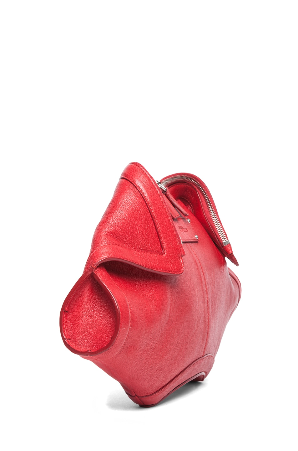 Image 3 of Alexander McQueen De Manta Clutch in Shiny Red
