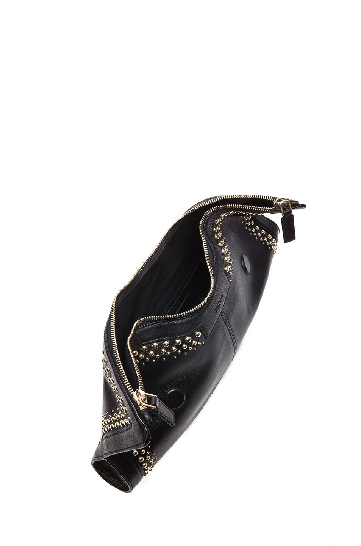 Image 4 of Alexander McQueen De Manta Studded Clutch in Black